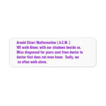 Arnold Chiari Malformation Awareness Label