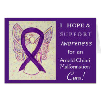 Arnold-Chiari Malformation Awareness Ribbon Card