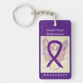 Arnold-Chiari Malformation Ribbon Angel Keychain