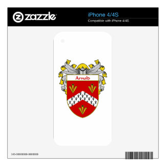 Arnold Coat of Arms/Family Crest Decals For The iPhone 4