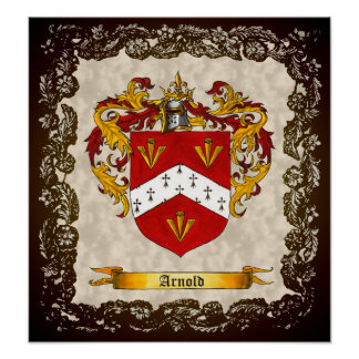 Arnold Coat of Arms Poster