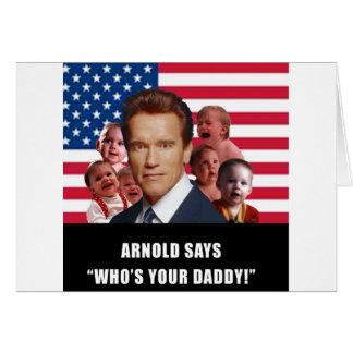 Arnold dice tarjeta de felicitación