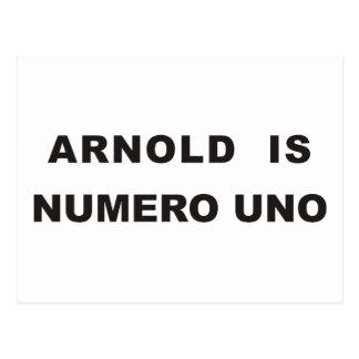 Arnold is numero uno postcard