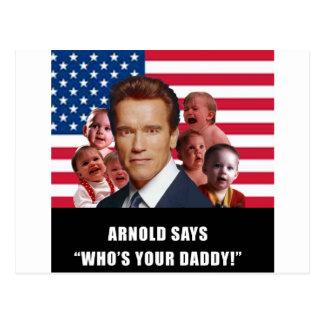 Arnold Says Postcard