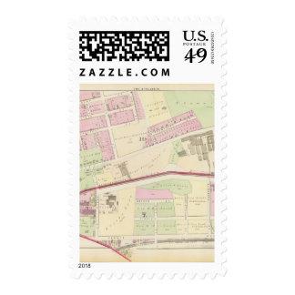 Arnold Square Rhode Island Locomotive Works Postage Stamps