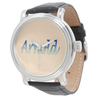 Arnold Vintaje Watch Black Leather Strap