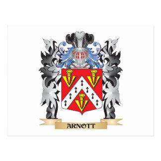 Arnott Coat of Arms - Family Crest Postcard