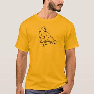 Arny Global Warming Polar Bear Lawn Chair Plain T-Shirt