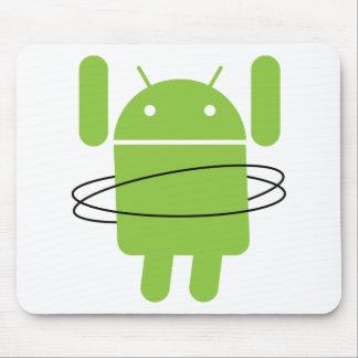 Aro androide de Hula Tapete De Ratón