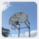 Aro de baloncesto colcomanias cuadradass