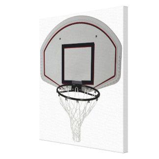 Aro de baloncesto con el tablero trasero lona envuelta para galerías