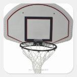 Aro de baloncesto con el tablero trasero colcomanias cuadradases
