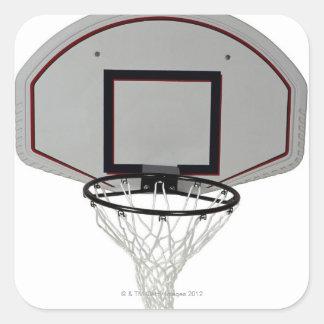 Aro de baloncesto con el tablero trasero pegatina cuadrada