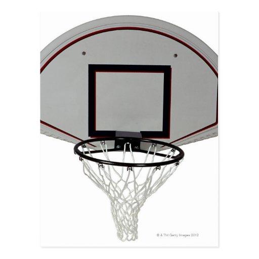 Aro de baloncesto con el tablero trasero postal
