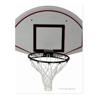 Aro de baloncesto con el tablero trasero postales