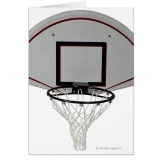 Aro de baloncesto con el tablero trasero tarjeta de felicitación