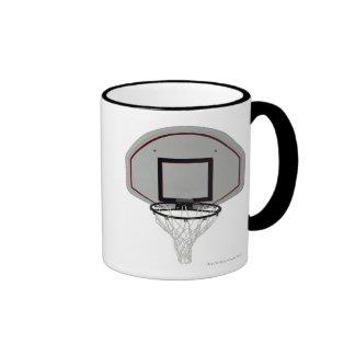 Aro de baloncesto con el tablero trasero taza de dos colores