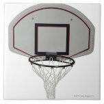 Aro de baloncesto con el tablero trasero tejas