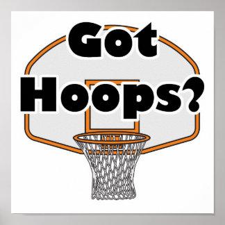 aro de baloncesto conseguido de los aros impresiones