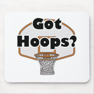 aro de baloncesto conseguido de los aros alfombrilla de ratón