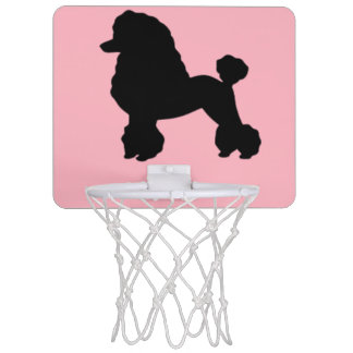 aro de baloncesto de la falda rosada del caniche canasta mini