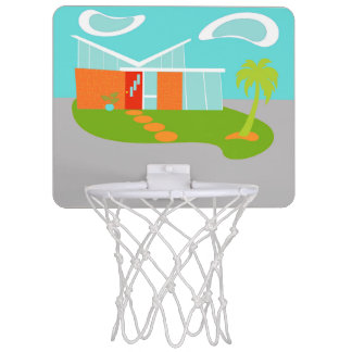 Aro de baloncesto del dibujo animado moderno de minicanastas