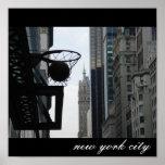 Aro de baloncesto en New York City. Impresiones