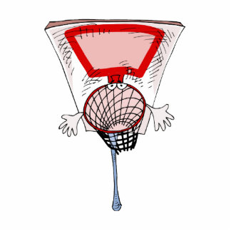 aro de baloncesto escultura fotográfica
