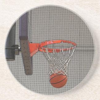 Aro de baloncesto gráfico posavasos cerveza