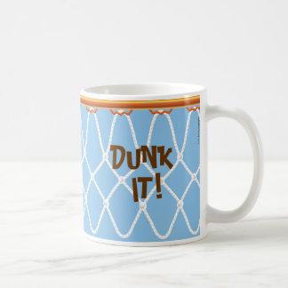 ¡Aro de baloncesto Net_Dunk él! _blue_jumpstart Taza De Café