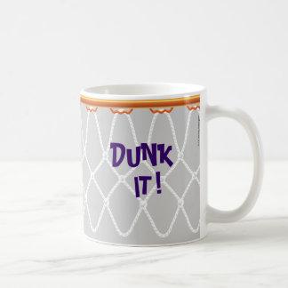¡Aro de baloncesto Net_Dunk él! _grey Taza De Café