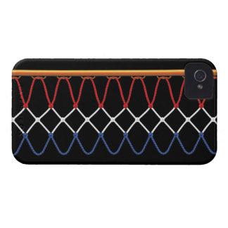 Aro de baloncesto Net_red, blanco y azul Case-Mate iPhone 4 Fundas
