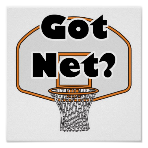 aro de baloncesto neto conseguido impresiones