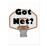 aro de baloncesto neto conseguido postal