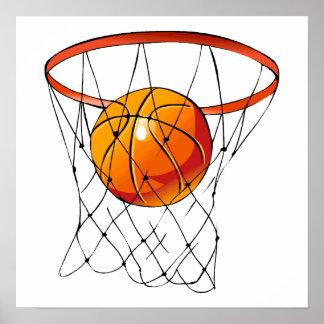Aro de baloncesto póster