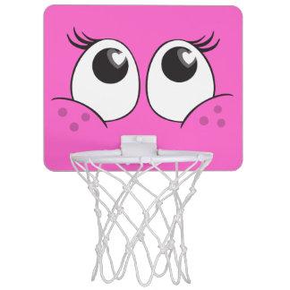 Aro de baloncesto sonriente de los ojos de Girlie  Canastas Mini