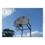Aro de baloncesto tarjeta