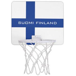 Aro de encargo de la bandera finlandesa mini minicanastas