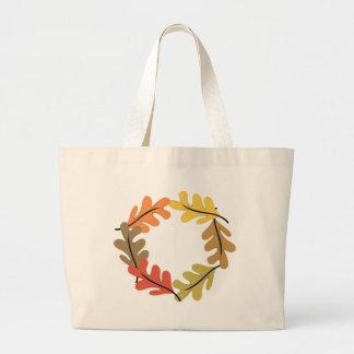 Aro de las hojas de otoño bolsas de mano