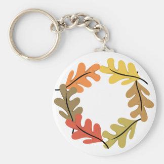 Aro de las hojas de otoño llaveros