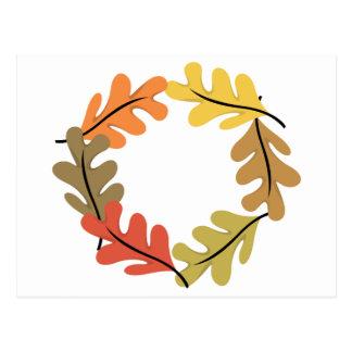 Aro de las hojas de otoño postales