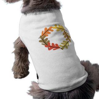Aro de las hojas de otoño ropa perro