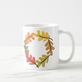 Aro de las hojas de otoño tazas