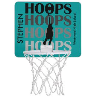 Aro del baloncesto de encargo de los aros del trul canastas mini