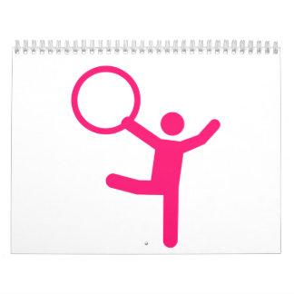 Aro del gimnasta de la gimnasia calendario de pared
