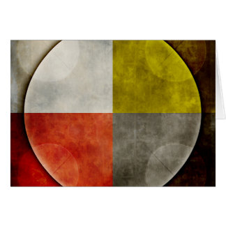 Aro sagrado del nativo americano tarjeta de felicitación