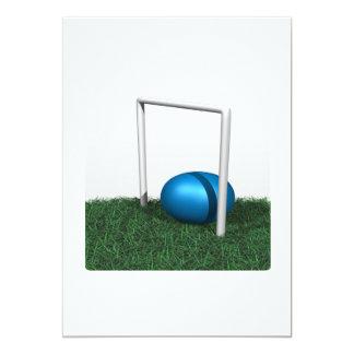 """Aro y bola del croquet invitación 5"""" x 7"""""""