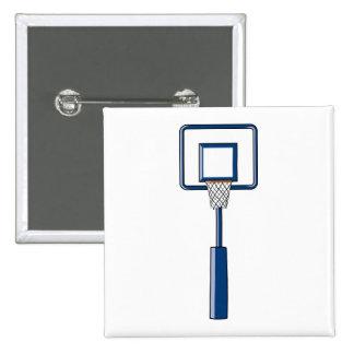aro y red de baloncesto pin cuadrada 5 cm