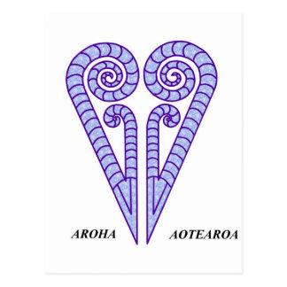 AROHA  AOTEAROA POSTCARD
