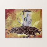 Aroma del café puzzle con fotos